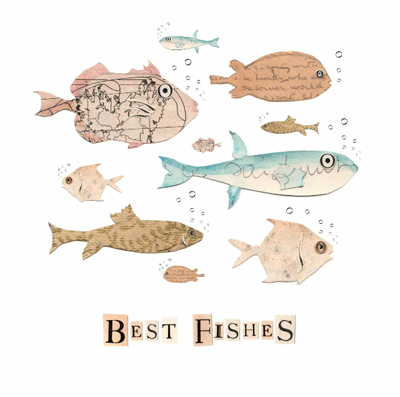 Best Fishes card Greetings Card by Rachel Biddulph