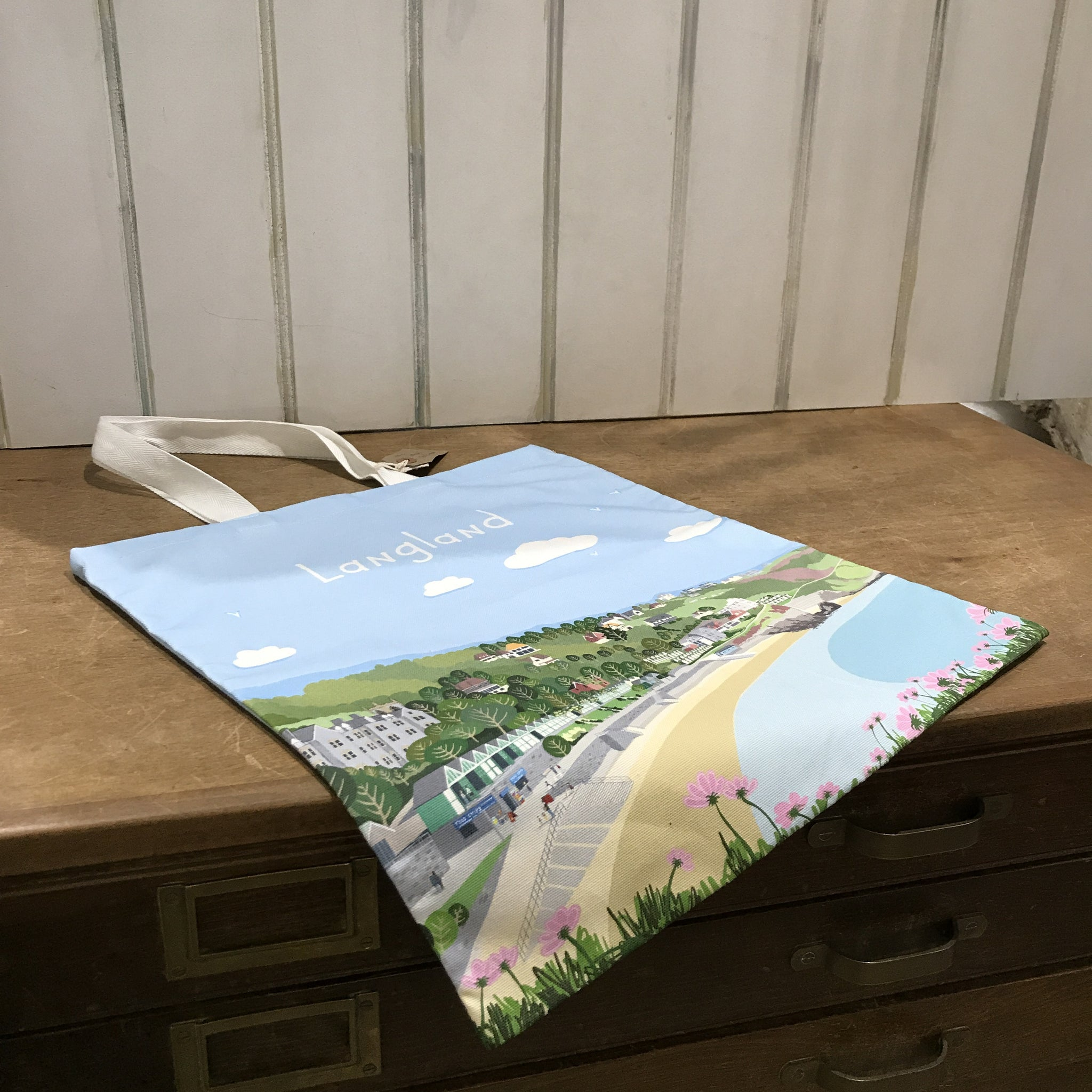 Langland Bay Shopper 100% Cotton