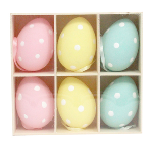 Pastel Polka Dot Egg Dec (Box/6) - 7cm