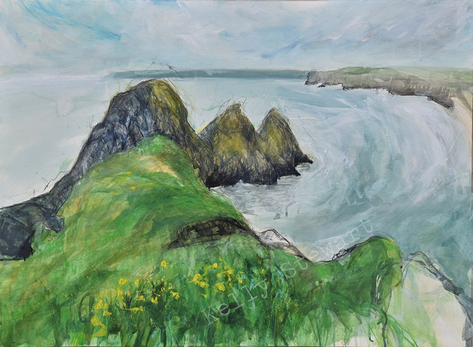 Three Cliffs Bay Original sold on behalf of Kelly Stewart