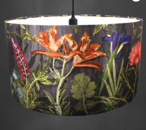 Midnight Bloom Lampshade