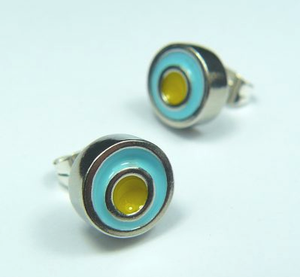 Turquoise Sky Earstuds  Yellow sold on behalf of Koa Jewellery