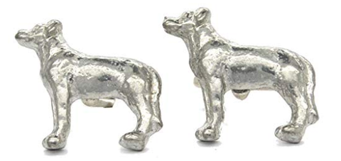Handmade Labrador Cufflinks in solid pewter