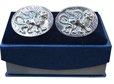 Handmade Griffon Cufflinks in solid pewter