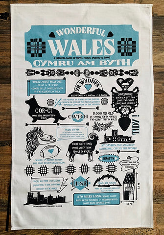 Wonderful Wales teatowels Sold on behalf of Emma Bissonnett