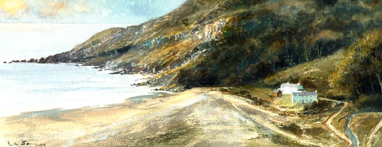 Early Morning Pwll Du Print sold on behalf of R N Banning