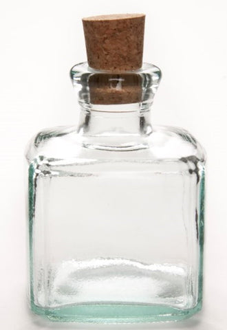 Square Bottle with a Cork