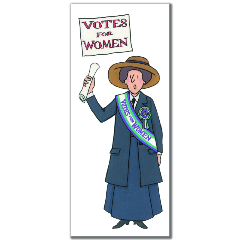 Suffragette 03 Magnetic Bookmark by Alison Gardiner