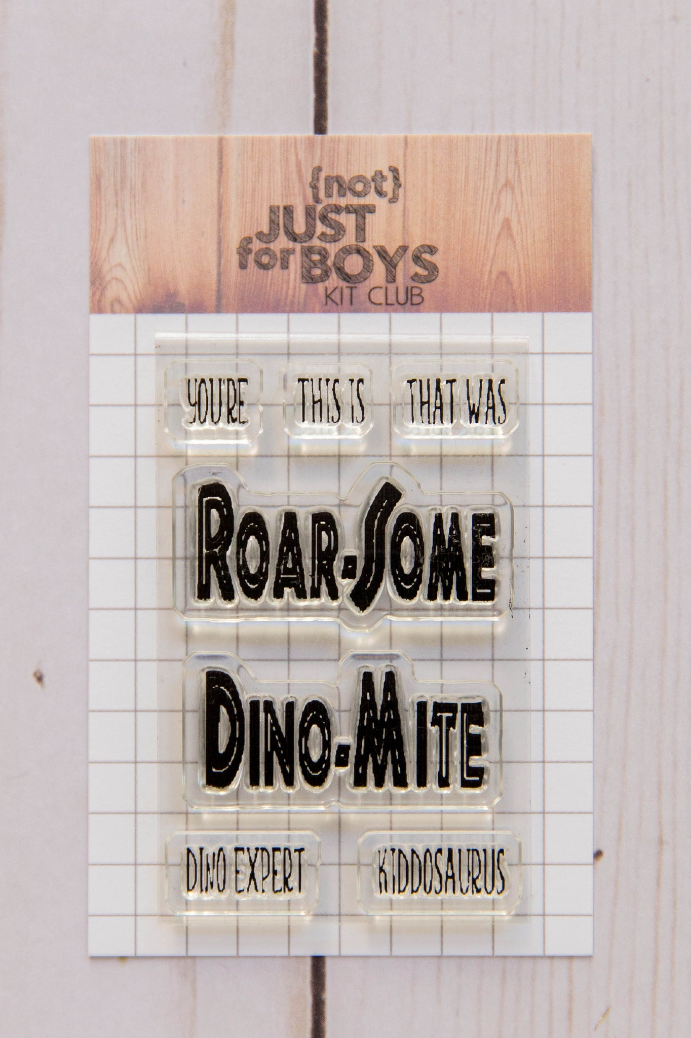 """Jurassic Beasts"" 2 x 3 Stamp Set"