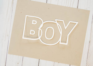 """Boy/s"" Cardstock Cut"