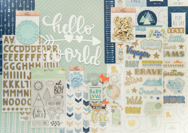 """Precious Baby Boy"" Deluxe Theme Kit"