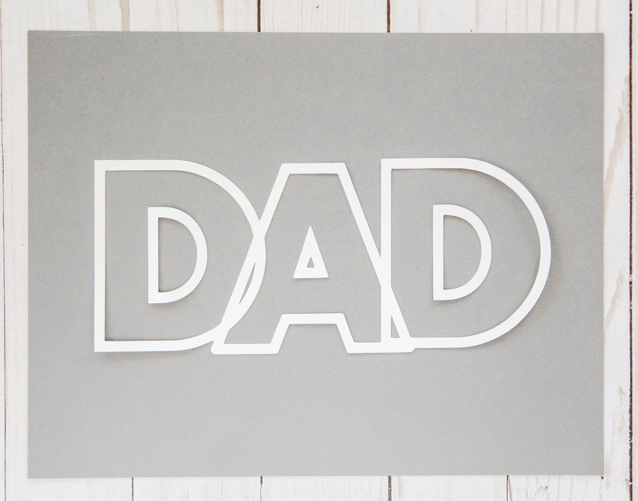 """Dad"" Cardstock Cut"