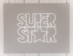 """Super Star"" Cardstock Cut"