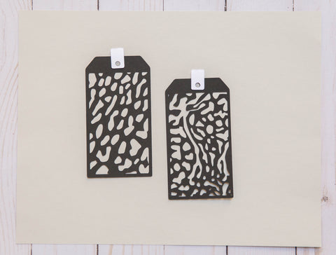 Set of 2 Patterned Tags
