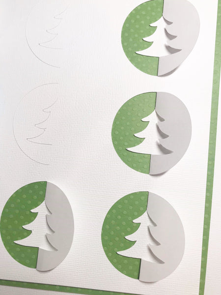 """Vintage Tree"" Background Cut File"