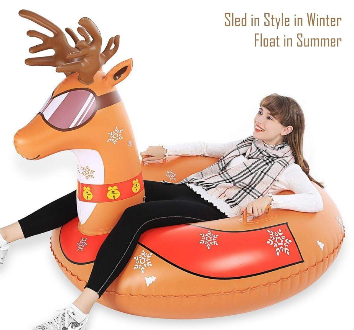 Wholesale Jasonwell 47 Inch Inflatable Snow Sled Snow Tube - Jasonwell