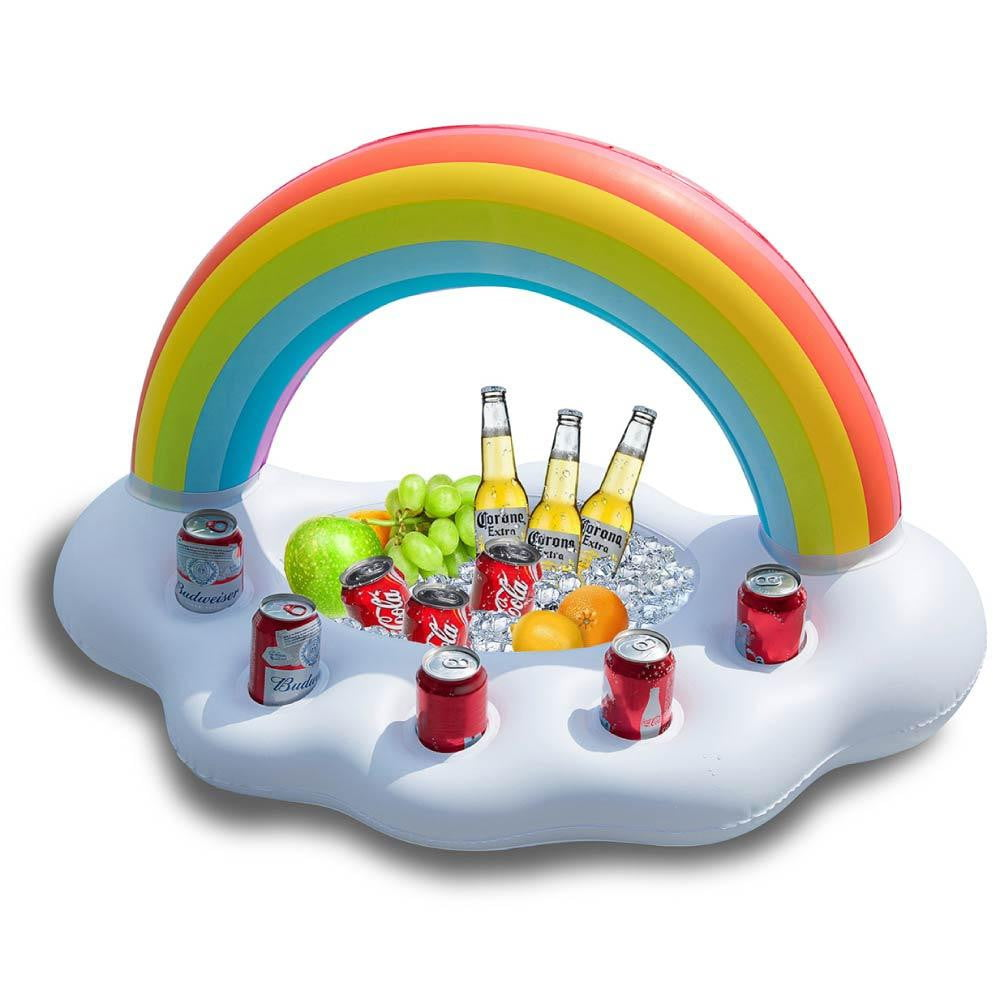 Rainbow Cloud Inflatable Drink Holder Floating - Jasonwell