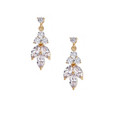 BOUCLES D'OREILLES MARIAGE STRASS<br>Astride Or