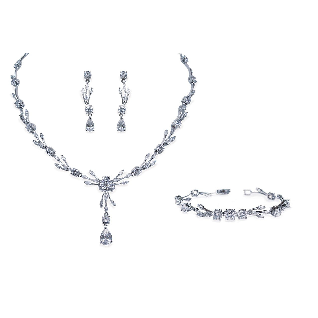 Parure Collier - Boucles d'oreilles - Bracelet<br>Mayfair - MP Paris