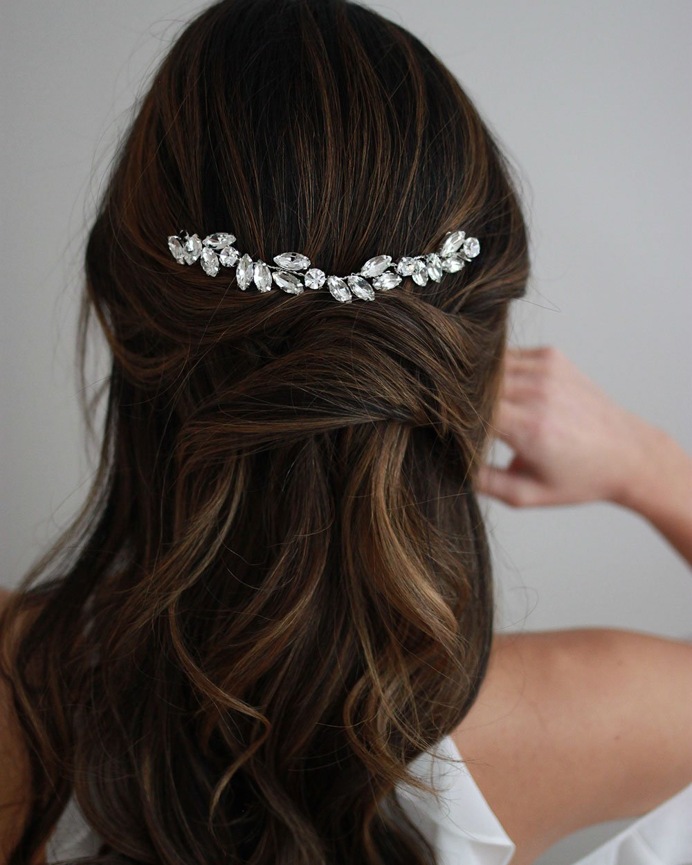 HEADBAND COURT CHEVEUX MARIAGE<BR>Nora Petite