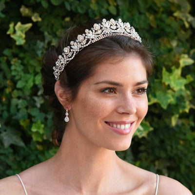 DIADEME MARIAGE PRINCESSE<BR>Aria Or rose - MP Paris