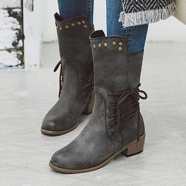 Holiday Chunky Heel Boots