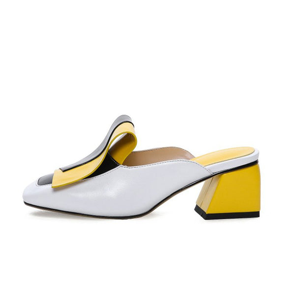 Panel Color Block Daily Muller Slippers