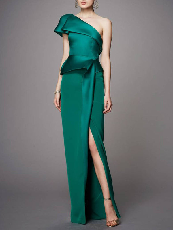 Sheath Prom Paneled Elegant Maxi Dress