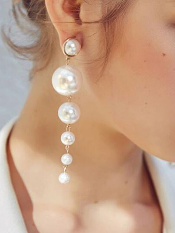 Pearl White All Season Casual Earrings