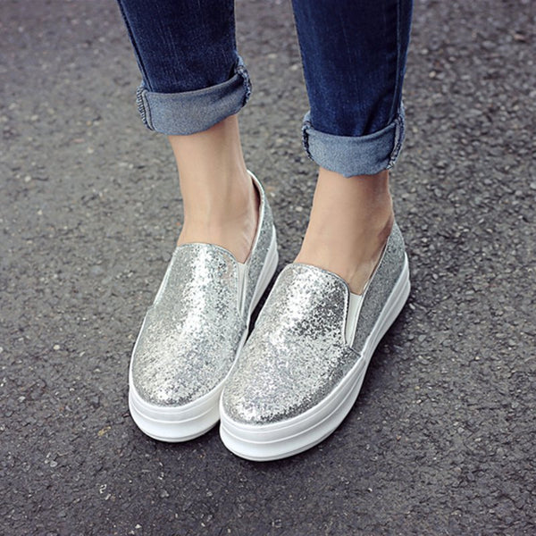 Casual Holiday Sequin Loafers