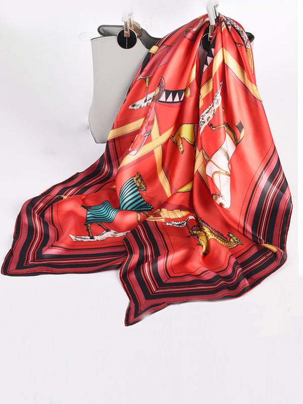 Summer Kerchief Daily Date Printed Casual Women Scarf