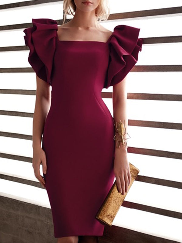 Sheath Party Midi Dress