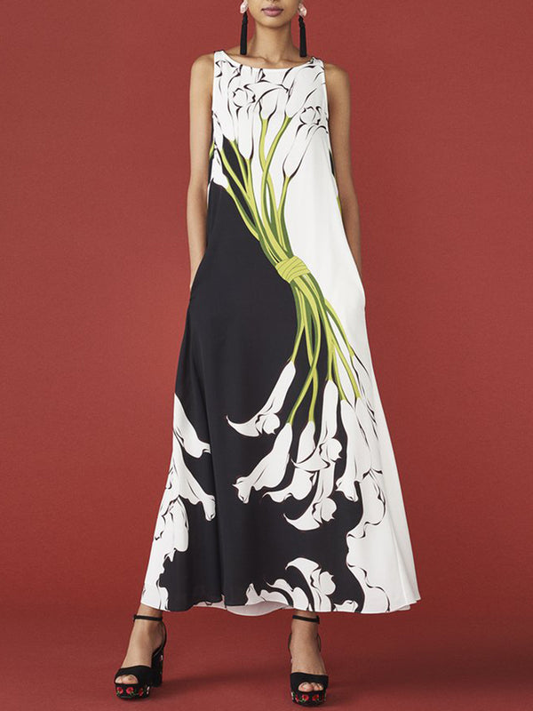 Summer Casual Daily Printed Maxi Dress