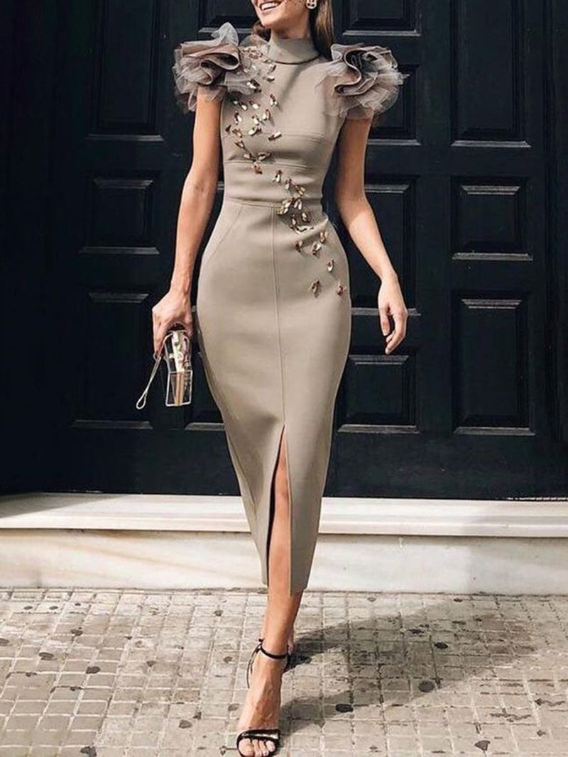 Bodycon Elegant Cocktail Midi Dress