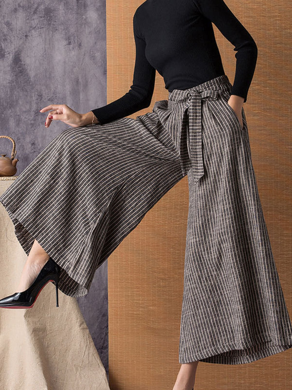 Bow Shift Casual Straight Leg Pants