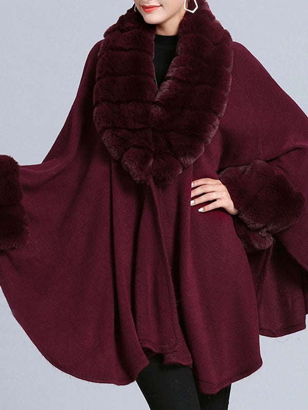 Batwing Elegant Solid Poncho And Cape