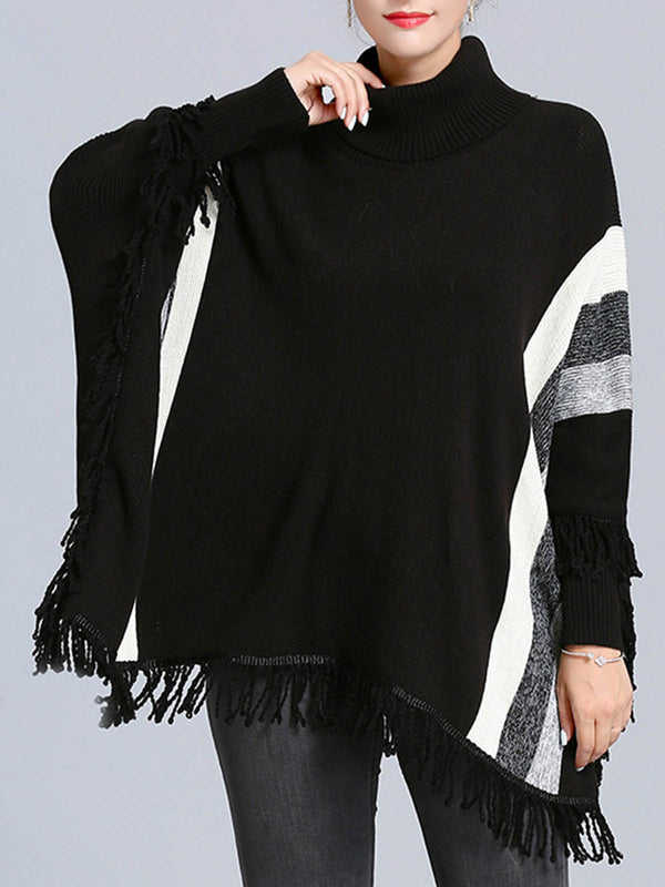 Turtleneck Batwing Poncho And Cape