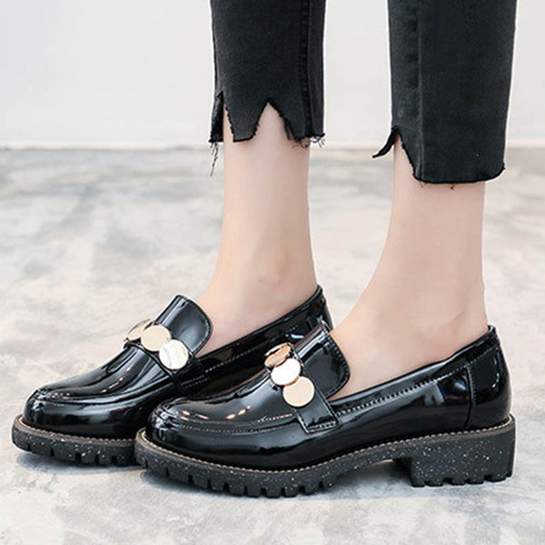 Block Heel Casual Loafers