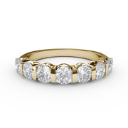 ¾ CT TW 14k <strong>Yellow Gold</strong> Lab-Grown Diamond 7 Stone Ring