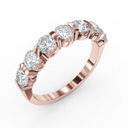 ¾ CT TW 14k <strong>Rose Gold</strong> Lab-Grown Diamond 7 Stone Ring