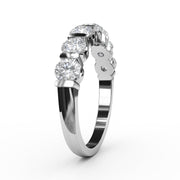¾ CT TW 14k <strong>White Gold</strong> Lab-Grown Diamond 7 Stone Ring