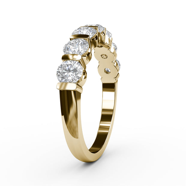 1 ¼ CT TW 14k <strong>Yellow Gold</strong> Lab-Grown Diamond 7 Stone Ring