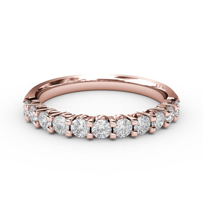 ½ CT TW 14k <strong>Rose Gold</strong> Lab-Grown Diamond 11 Stone Ring
