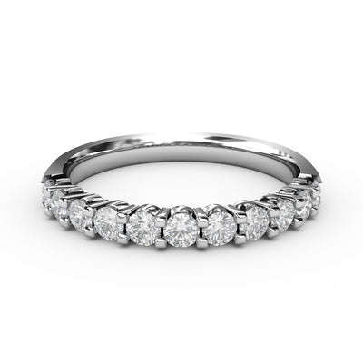 ½ CT TW 14k <strong>White Gold</strong> Lab-Grown Diamond 11 Stone Ring