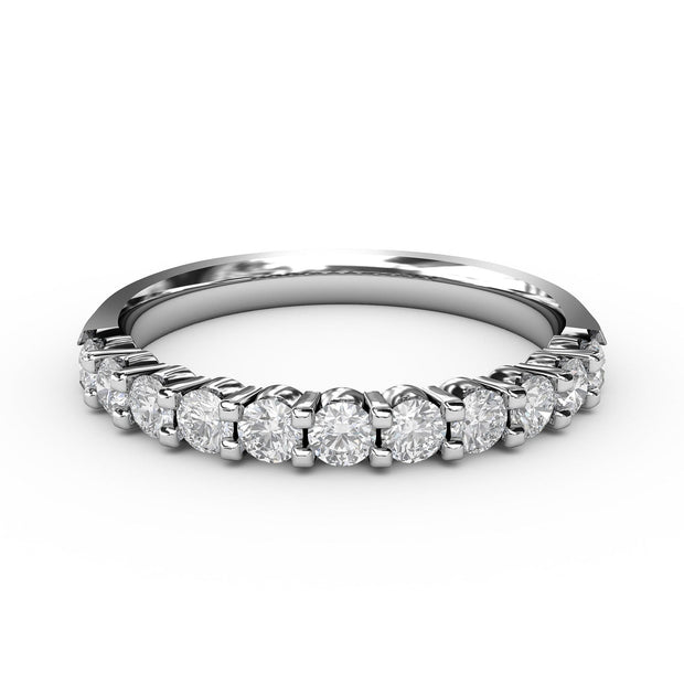 1/2 CT. TW 14k White Gold Lab-Grown Diamond 11 Stone Ring