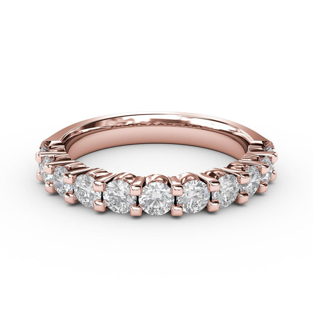1 CT TW 14k <strong>Rose Gold</strong> Lab-Grown Diamond 11 Stone Ring