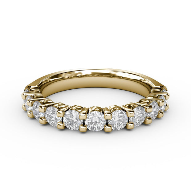 1 ½ CT TW 14k <strong>Yellow Gold</strong> Lab-Grown Diamond 11 Stone Ring