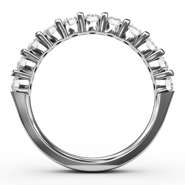 1 CT TW 14k <strong>White Gold</strong> Lab-Grown Diamond 11 Stone Ring