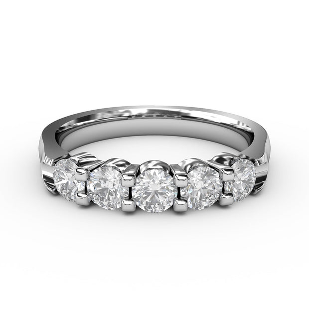 ½ CT TW 14k <strong>White Gold</strong> Lab-Grown Diamond 5 Stone Ring