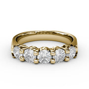 1 CT TW 14k <strong>Yellow Gold</strong> Lab-Grown Diamond 5 Stone Ring